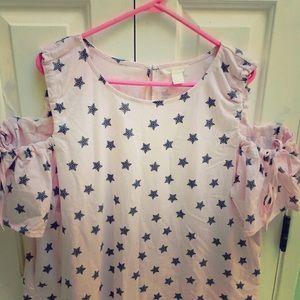 H&M cut out blouse